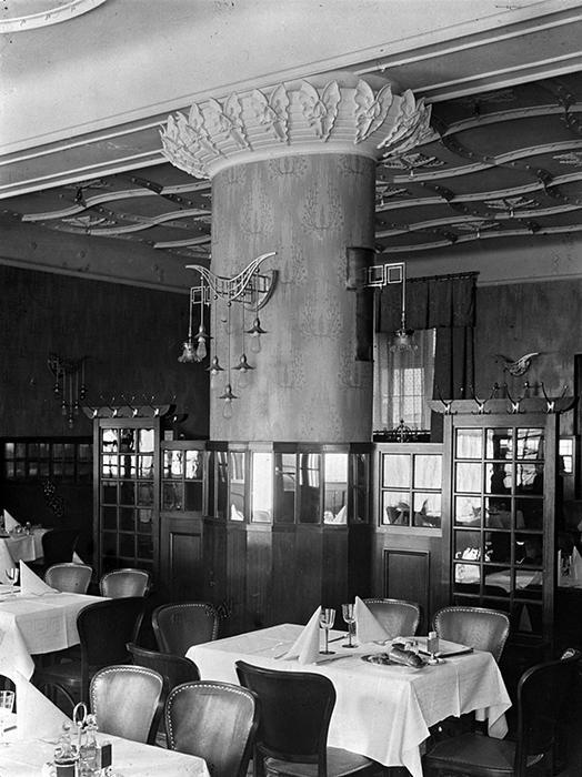Restaurant Art Deco Bereich um 1917